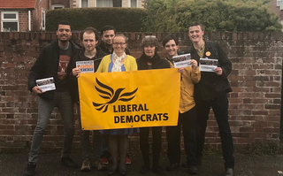 Liberal Democrats campaiging in Exeter